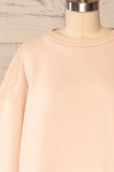 Set Luqa Blush Sweater & Joggers | La petite garçonne front close up top
