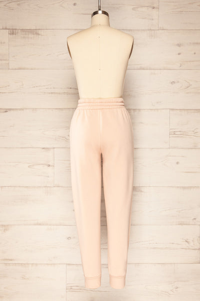 Set Luqa Blush Sweater & Joggers | La petite garçonne back view pants