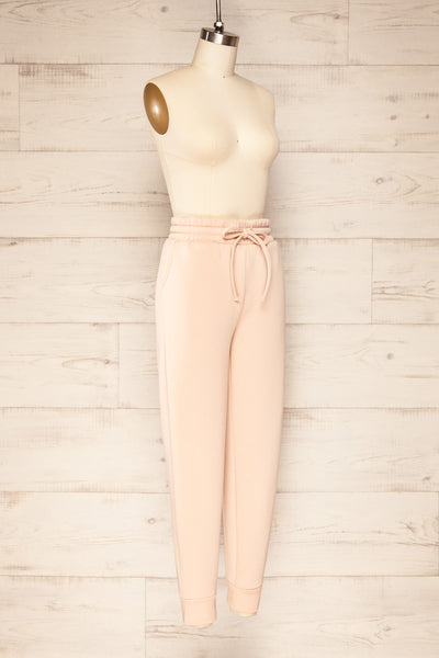 Set Luqa Blush Sweater & Joggers | La petite garçonne side view pants