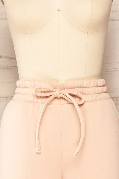 Set Luqa Blush Sweater & Joggers | La petite garçonne front close up pants