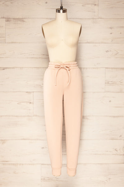 Set Luqa Blush Sweater & Joggers | La petite garçonne front view pants
