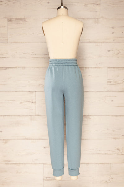 Set Luqa Denim Blue Sweater & Joggers | La petite garçonne back view