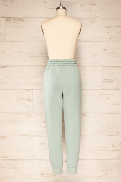Set Luqa Green Sweater & Joggers | La petite garçonne back view pants