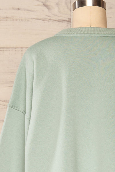 Set Luqa Green Sweater & Joggers | La petite garçonne back close up top