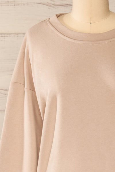 Set Muszyna Beige Loungewear Set | La petite garçonne top front close-up