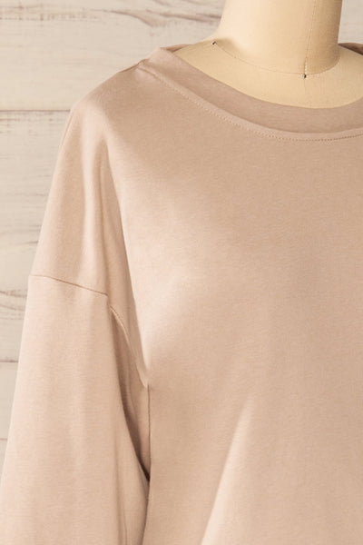 Set Muszyna Beige Loungewear Set | La petite garçonne top side close-up