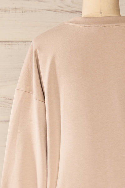 Set Muszyna Beige Loungewear Set | La petite garçonne top back close-up