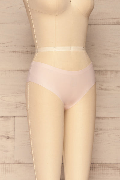 Set Pamplona Pack of 3 Seamless Undies | La petite garçonne side view beige