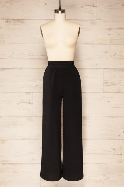 Set Flauro Black Crop Top & Pants | La petite garçonne front view