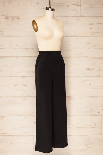 Set Flauro Black Crop Top & Pants | La petite garçonne side view