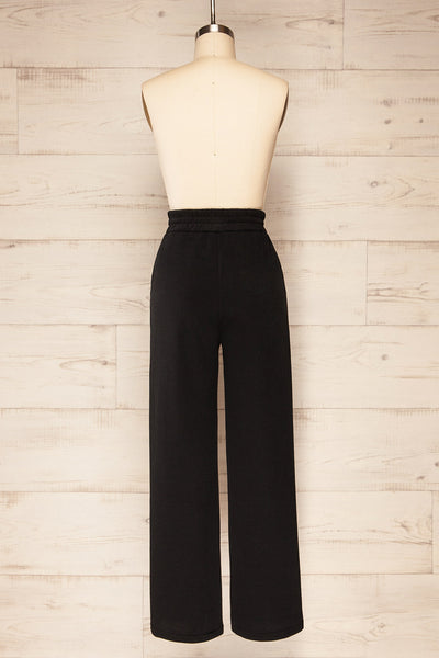Set Flauro Black Crop Top & Pants | La petite garçonne back view