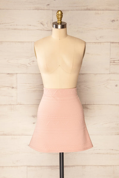 Set Ronda Blush Crop Top & Skirt Set | La petite garçonne front view