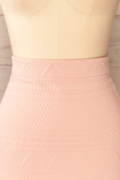 Set Ronda Blush Crop Top & Skirt Set | La petite garçonne front close-up