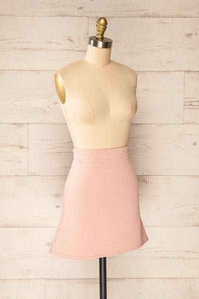 Set Ronda Blush Crop Top & Skirt Set | La petite garçonne side view
