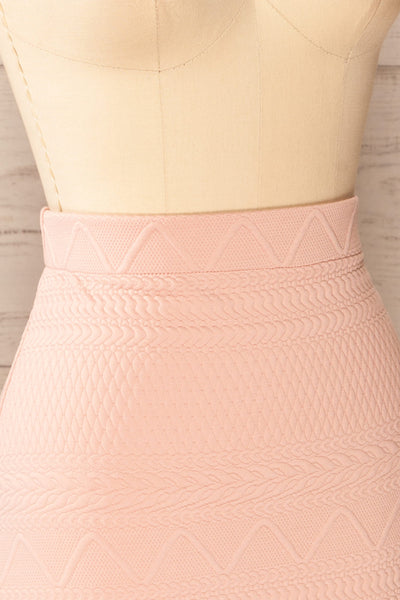 Set Ronda Blush Crop Top & Skirt Set | La petite garçonne side close-up