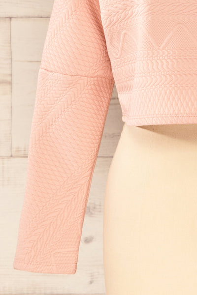 Set Ronda Blush Crop Top & Skirt Set | La petite garçonne sleeve