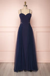 Shanvi Navy Bustier Mermaid Gown with Lace | Boutique 1861