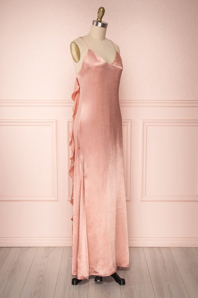 Sharbel Quartz | Pink Satin Dress