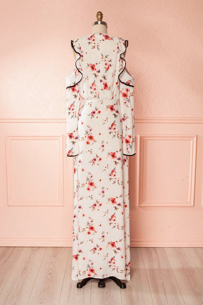 Sharissa White Floral Maxi Summer Dress | Boutique 1861