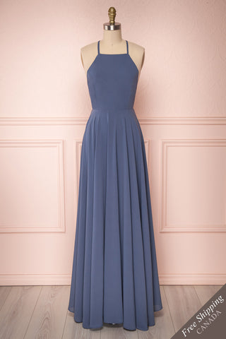 Shaynez Blue Empire A-Line Prom Dress | Boutique 1861