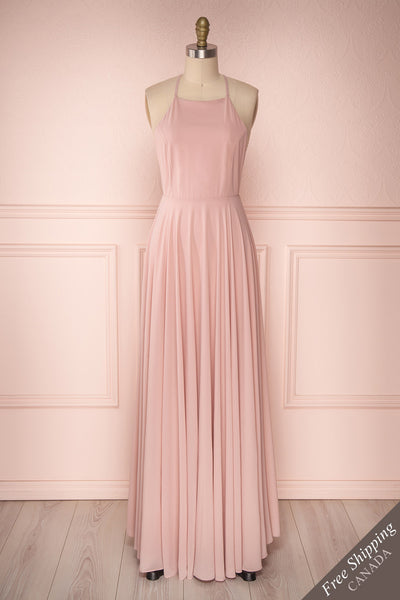 Shaynez Dusty Pink Empire A-Line Prom Dress | Boutique 1861