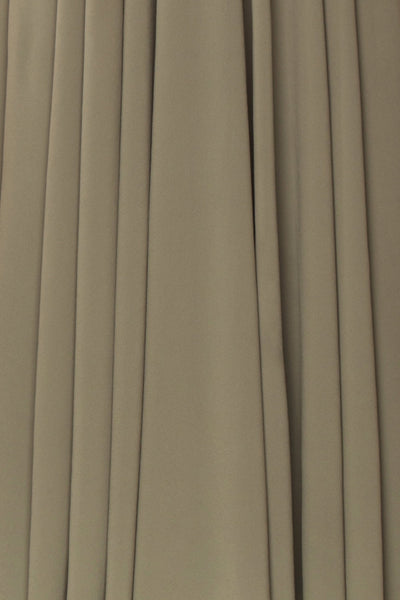 Shaynez Sage Green Empire A-Line Prom Dress fabric | Boutique 1861