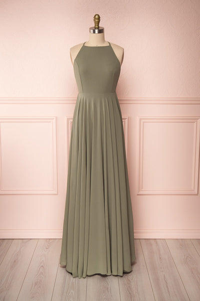 Shaynez Sage Green Empire A-Line Prom Dress | Boutique 1861