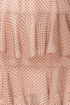 Shigeo Light Pink Polka Dot Dress w/ Ruffles fabric | Boutique 1861