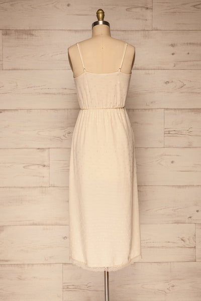 Sibiu Ivory Midi Dress w/ Thin Straps | La petite garçonne back view