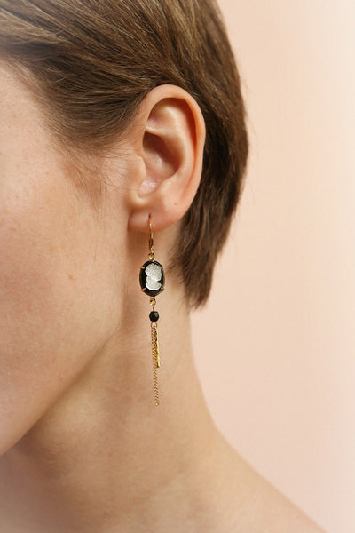 Sibyl Megara | Gold Pendant Earrings
