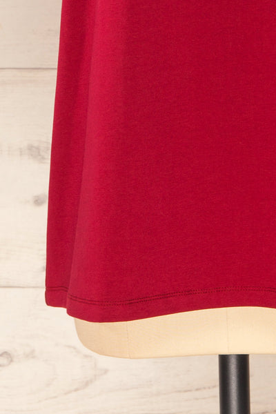 Sindi Burgundy Oversized Cotton T-Shirt | La petite garçonne bottom