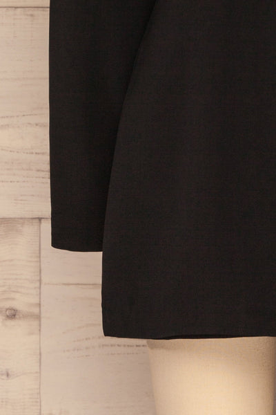 Siracusa Black Blazer Romper | Combishort | La Petite Garçonne bottom close-up