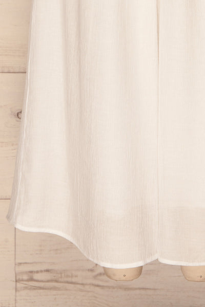 Skogar White Wide Leg Jumpsuit w/ Belt | La petite garçonne bottom