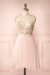 Slany Blush & Golden Embroidery A-Line Prom Dress | Boutique 1861