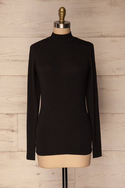 Slivno Black Long Sleeved Turtleneck Top | La Petite Garçonne