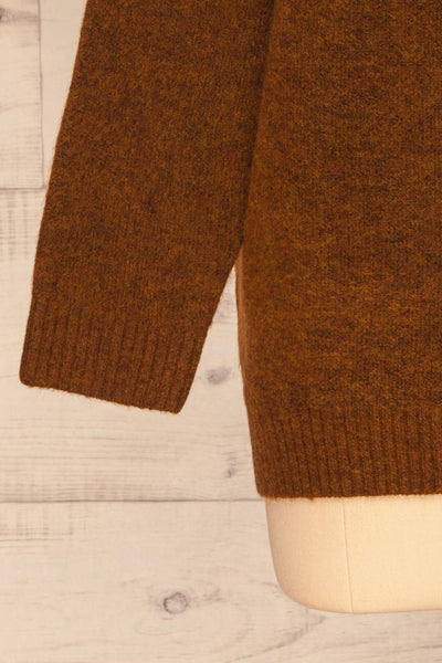 Sochi Brown Turtleneck Knit Sweater | La petite garçonne  bottom