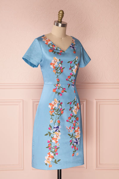 Soleina | Blue Floral Dress