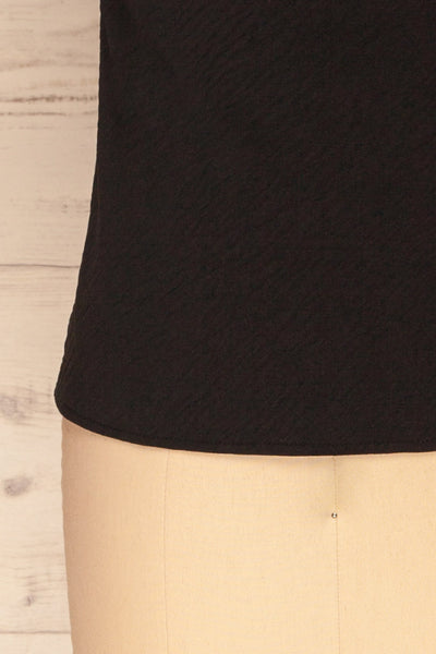Solin Black Cowl Neck Tank Top | La petite garçonne bottom