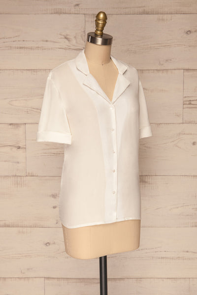 Soresina White Short Sleeved Shirt | La petite garçonne side view