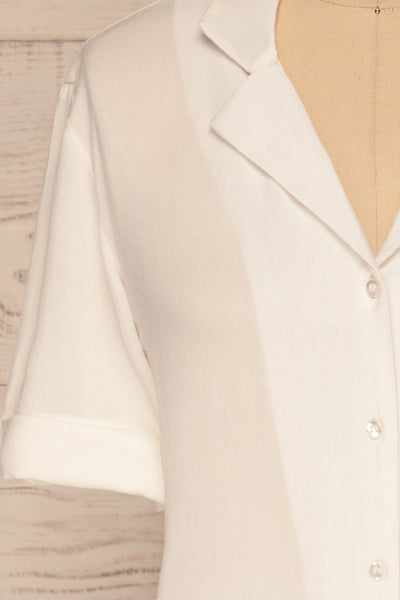 Soresina White Short Sleeved Shirt | La petite garçonne sleeves