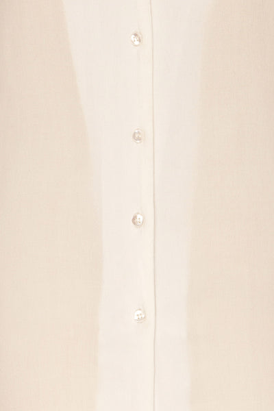 Soresina White Short Sleeved Shirt | La petite garçonne fabric