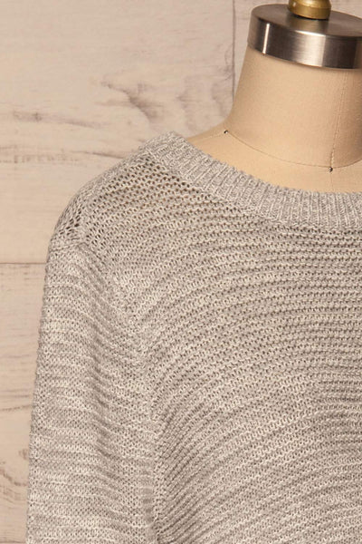 Sorinnes Sweater Dress | Robe Grise | La Petite Garçonne side close-up