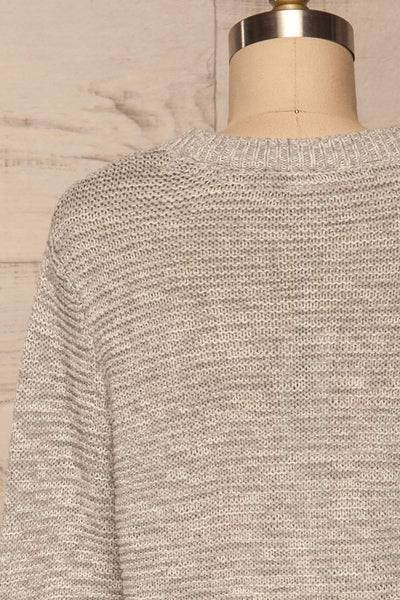 Sorinnes Sweater Dress | Robe Grise | La Petite Garçonne back close-up