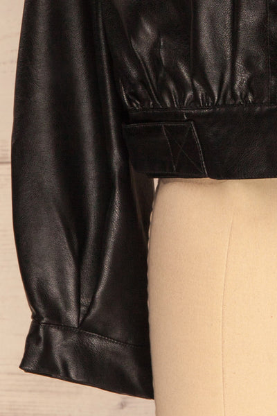 Sosnowiec Cropped Faux-Leather Jacket | La petite garçonne bottom