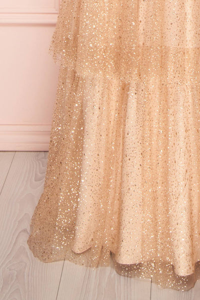 Soumeya | Gold Layered Dress