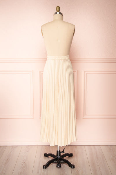 Spaewife White Chiffon Pleated Midi Skirt | Boutique 1861 back view