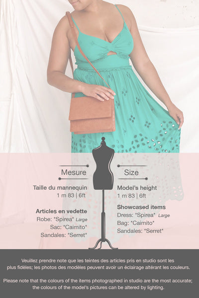 Spirea Turquoise Openwork Midi Dress | Boutique 1861 template