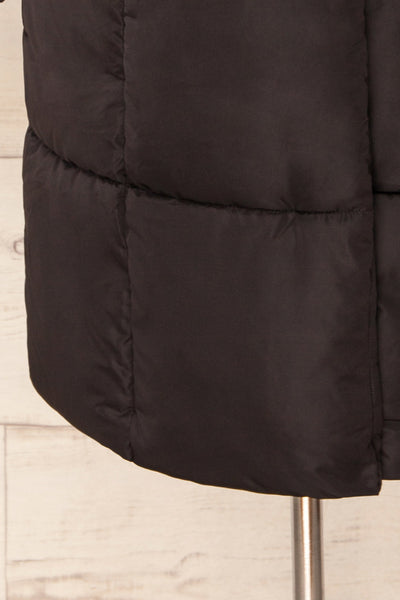Spoleto Black Long Quilted Coat | La petite garçonne bottom