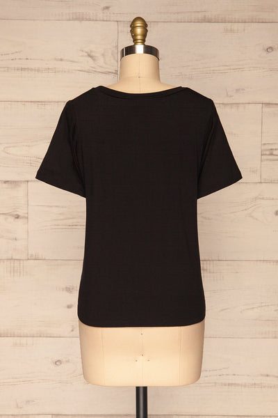 Strong Women Black T-Shirt | Haut | La Petite Garçonne back view