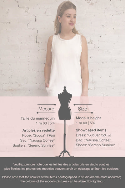 Sucua Ivory White Straight Short Dress | La petite garçonne template